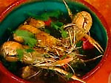 Scampi with Garlic, Chiles and Mint: Scampi con Aglio, Peperoni e Nepitella