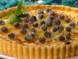 Blueberry Creme Brulee Tart
