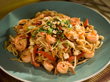 Shrimp and Vegetable Pad Thai