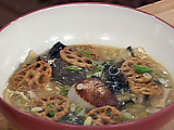 Seared Scallops and Hot and Sour Soup