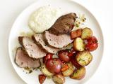 Roasted Pork and Potatoes With Creamy Applesauce