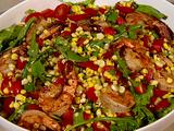 Grilled Corn Salad with Marinated Shrimp