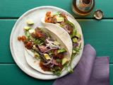 Skirt Steak Tacos with Roasted Tomato Salsa
