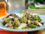 Quinoa Salad with Asparagus, Goat Cheese and Black Olives