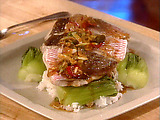 Asian-Style Steamed Snapper with Baby Bok Choy
