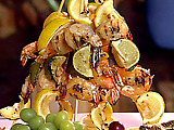 Honey and Mustard Shrimp Skewers