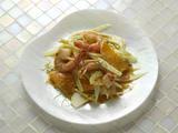 Shrimp With Orange Butter and Fennel and Orange Salad