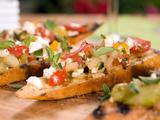 Mixed Tomato Salsa Crostini
