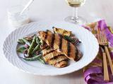 Grilled Chicken with Green Beans and Buttermilk Dressing