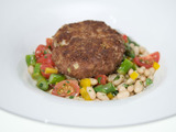 Cocoa Krispies™-Crusted Meatloaf with Asparagus Salad