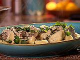 Herb Gnocchi with Mushroom Sauce