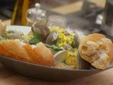 Steamed Littleneck Clams with Sweet Corn and Basil