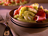 Fennel Slaw with Prosciutto and Pistachio Pesto