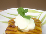 Roasted Pineapple with Whipped Cream