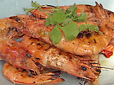 Grilled Prawns With Spicy Fresh Pepper Sauce