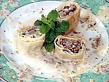 Individual Pear Strudels with Blue Cheese