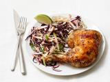 Roast Chicken With Apple Slaw