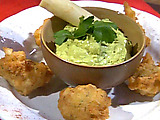 Hearts of Palm Fritters with Avocado Dipping Sauce