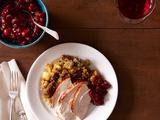 Fig-Glazed Roast Turkey with Cornbread Stuffing