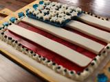 Red, White and Blue Gelatin Flag