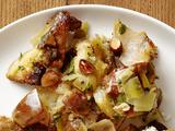 Brioche-Pear Stuffing With Italian Sausage and Almonds