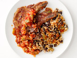 Pork Chops With Rice and Beans