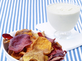 Vegetable Chips with Blue-Cheese Dip