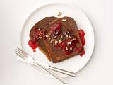 Chocolate-Hazelnut French Toast With Raspberry Syrup