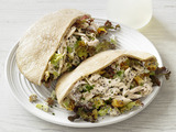 Poppy Seed-Chicken Pitas