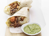 Moroccan Burritos with Tahini Herb Sauce