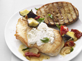Chicken With Sun-Dried Tomato, Eggplant and Basil