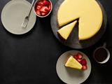 Cheesecake With Meyer Lemon-Ginger Curd