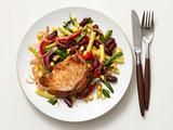 Pork Chops With Bean Salad