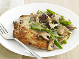 Chicken with Creamy Mushrooms and Snap Peas