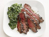 Steak With Parmesan Spinach