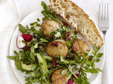 Scallops With Watercress Salad