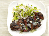 Steak With Blue-Cheese Butter and Celery Salad