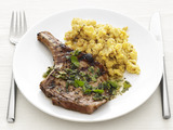 Mojo Pork Chops with Plantains