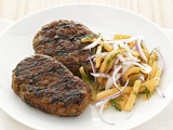 Beef Kefta With Melon Slaw