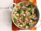 Turkey-Escarole Soup with Farfalline