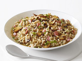 Barley Risotto With Ham and Mushrooms