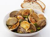Steamed Clams and Kale