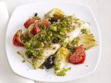 Striped Bass With Artichokes and Olives