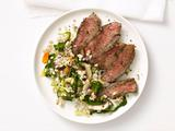 Grilled Steak With Barley Salad