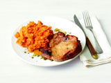 Honey-Glazed Pork Chops With Mashed Sweet Potatoes