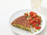 Broccoli Omelet With Tomato Salad