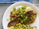 Pan-Seared Branzino With Herb Salsa