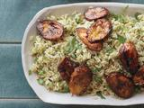 Cilantro and Rice With Sweet Plantains