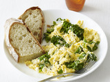 Scrambled Eggs With Ricotta and Broccolini