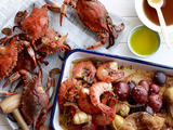 Spiced Crabs and Shrimp With Potatoes
